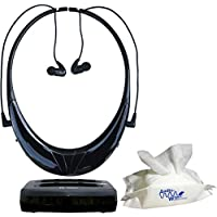 Serene Innovations TV-95RF - TVDIRECT Wireless Headphones For TV And AudioWipes Pouch