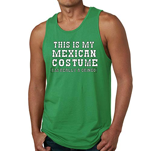 (This is My Mexican Costume Cinco De Mayo Mens Graphic Tank Top, Kelly, Small )