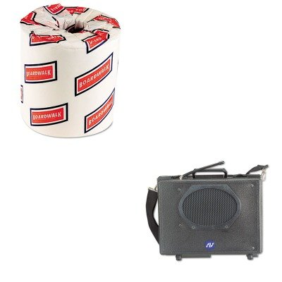 KITAPLSW222BWK6180 - Value Kit - Amplivox Wireless Audio Portable Buddy Professional Group Broadcast PA System (APLSW222) and White 2-Ply Toilet Tissue, 4.5quot; x 3quot; Sheet Size (Wireless Buddy Pa System)