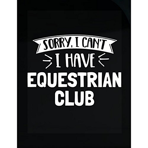 Gift For Equestrian Club Enthusiasts Back To School - Sticker