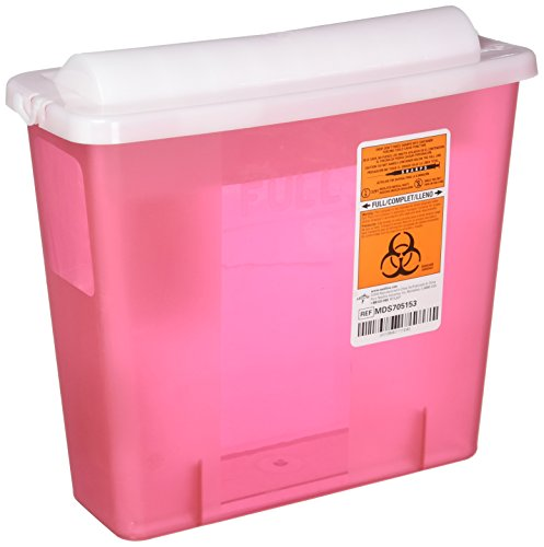 Sharps Disposal Unit, Sharps Container, 5 Quart, Red MDS705153-1 Each ()