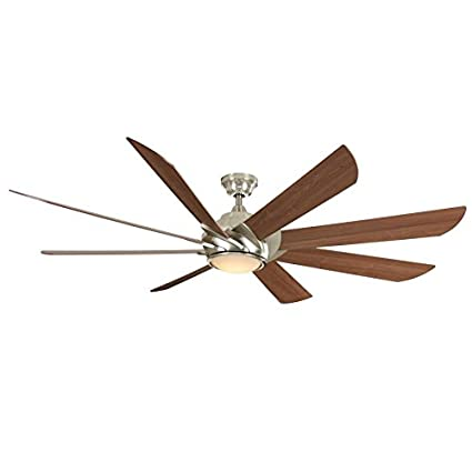 Harbor breeze hydra 70 in brushed nickel led indoor downrod mount harbor breeze hydra 70 in brushed nickel led indoor downrod mount ceiling fan with light aloadofball Images