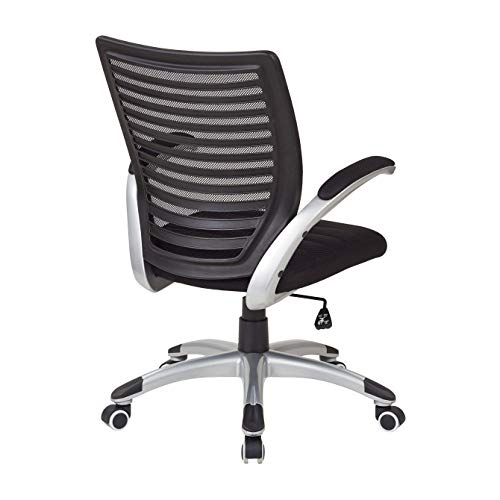 Work Smart EMH69096-3-osp Mesh Seat and Screen Back Managers Chair, Black ()