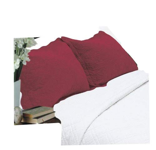 ALL FOR YOU 2-Piece Embroidered Pillow Shams-King Size (King, ()