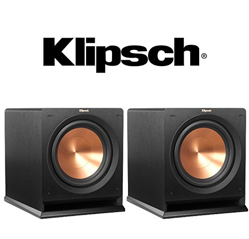1 Pair Klipsch R-110SW 10' 200 Watt Subwoofer (Black) Bundle