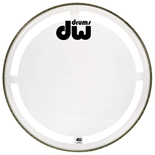 Drum Workshop Coated Clear Bass Drum Head, 24 inch