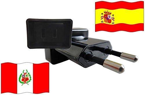 Adaptador de enchufe europeo a Perú de la bandera de España: Amazon.es: Iluminación
