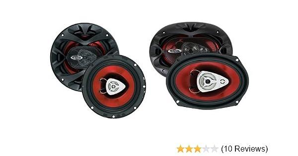 2 Boss Ch6520 6 5 250w Car Speakers 2 Boss Ch6930 6x9 400w Car Speakers