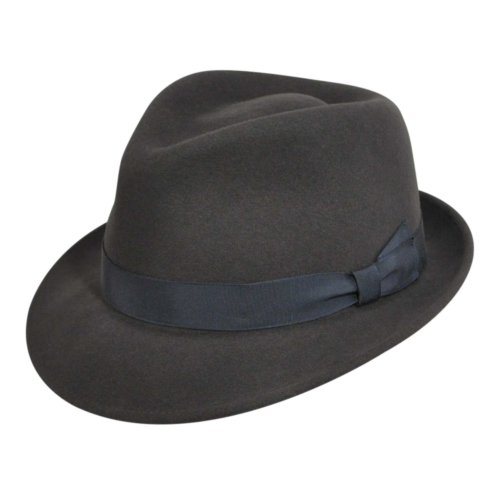 Bollman Hat Company Women 2000S Bollman Heritage Collection Trilby Gun  Metal S M 245320cf63f9