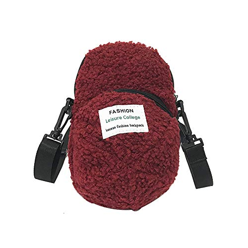 Backpack for Women, Personality Hat Bag Simple And Lovely Hairy Student Bag Handbag -