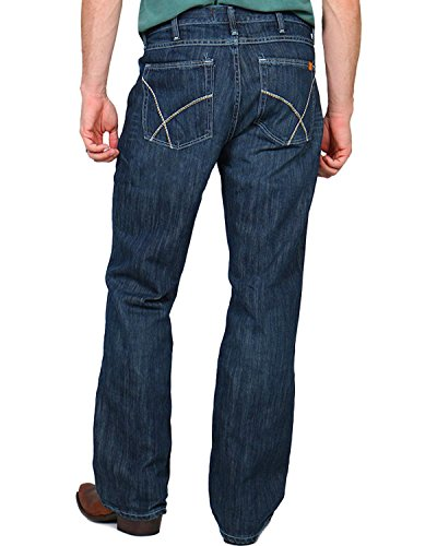 Wrangler Men's FR Vintage Boot Cut Jean, Dark Wash, 33Wx30L