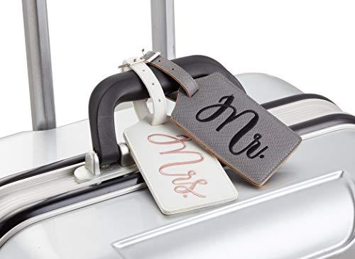 Chelmon Mr. and Mrs. Honeymoon Wedding Bridal Shower Gift Cute Luggage Tag Travel Tags (Version 1)