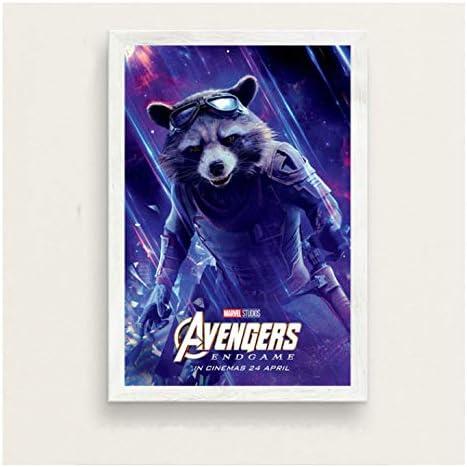 chuangyue The Avengers Endgame Charaktere Kunst Malerei Seide Leinwand Poster Wand Home Decor14X21 Zoll Kein Rahmen