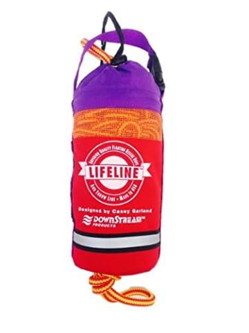 """LIFELINE Water Rescue Throw Bag 50' x 3/ 8"""" Double Braided MFP Red - Rescue Throw Line"""