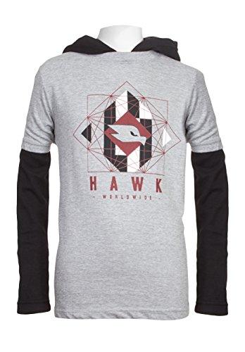 TONY HAWK Boys 2Fer Long Sleeve Layered Tee School Clothes Shirt Heather Grey 8