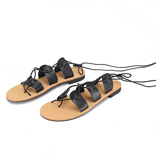 Sandalo Da Sexy Estate Piatto Moda Scarpe Tacco Punta Croce ASHOP Selvaggia Sandal Nuova Donna Spiaggia Donna Cinturino Autunno inverno Donna Scarpe Fondo Nero Aperta e faFxwZ