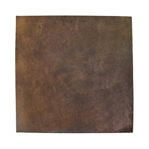 Thick Leather Square 3.5 mm (12 x 12 in.) for Crafts | Tooling, Hobby Workshop, Crafting, Heavy Weight Thickness by Hide & Drink :: Bourbon Brown