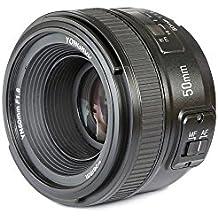 [Patrocinado] YONGNUO YN 50 mm F1,8Nlente principal estándar enfoque manual automático de gran apertura, AF MF para cámaras Nikon DSLR