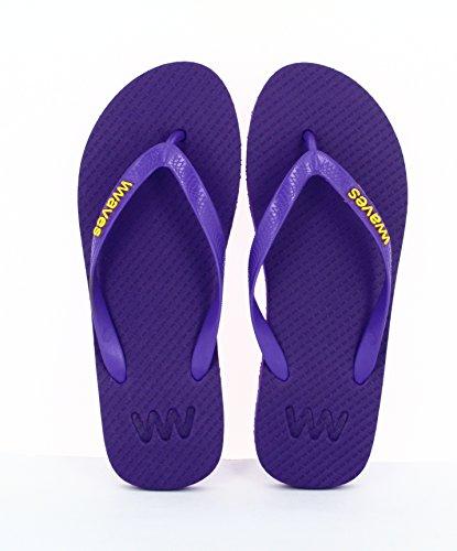 Vagues 100% Tongs En Caoutchouc Naturel Pour Hommes Et Femmes Sandales Unisexe Regular Fit Sandales - Essentials Purple