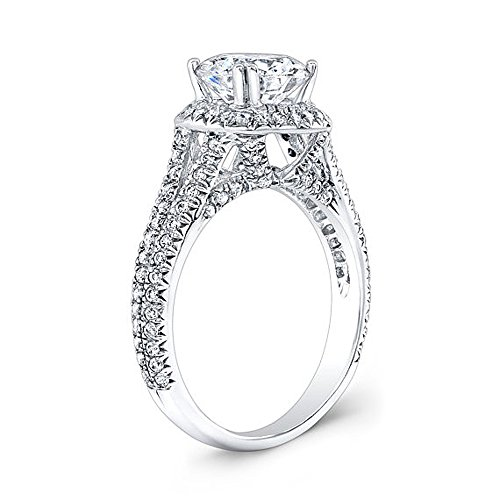 Real 2.20Ct Round Cut Solitaire 14K White Gold Moissanite Wedding...