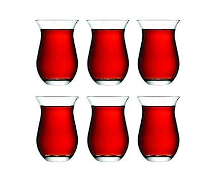 Pasabahce - Juego de 6 vasos turcos de té (cristal)