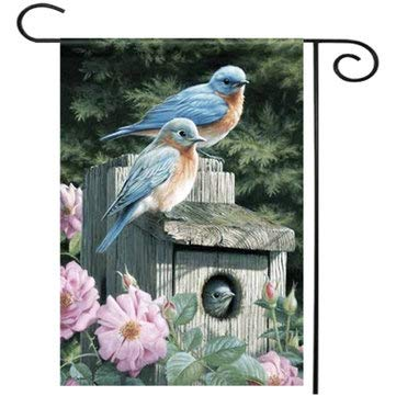 Bluebird Garden Flag Home Decorative Watering - 1PCs by Unknown