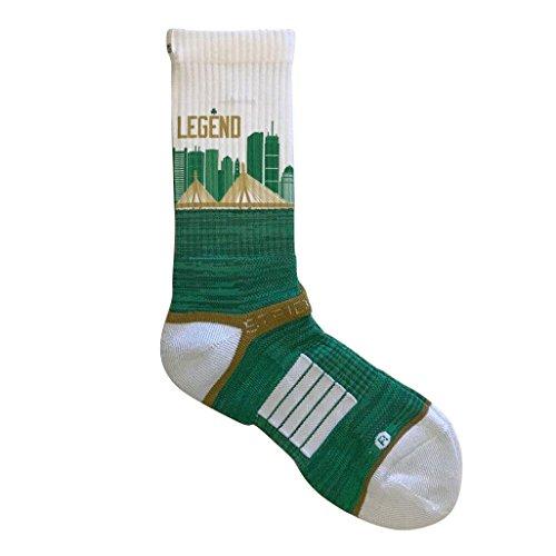 Strideline 2.0 Boston Celtics Legend City Line - Crew Socks - White Boston Celtics Socks