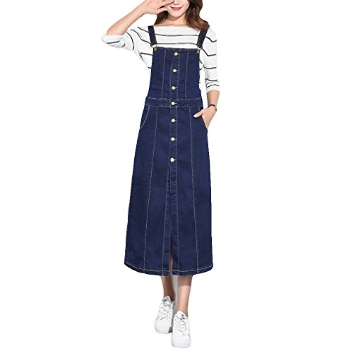 Free Shipping Womens Girls Casual Long Suspender Skirt Slim Fit