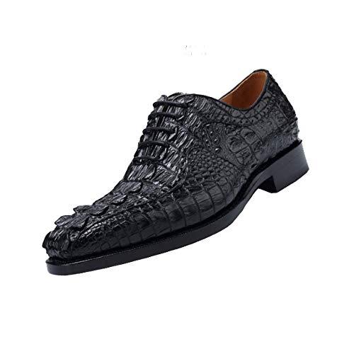 Scarpe in Pelle da Uomo Business Scarpe Basse di Fascia Alta Scarpe Stringate Stile Britannico Confortevoli Ed Eleganti Black