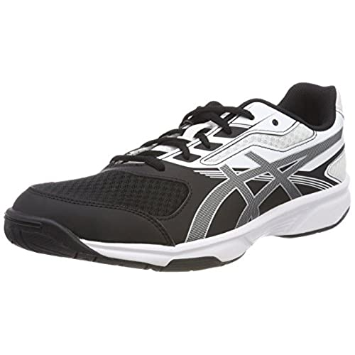 Asics Upcourt 2, Chaussures Multisport Indoor Femme, Multicolore (Black/Silver/White 9093), 9.5 UK