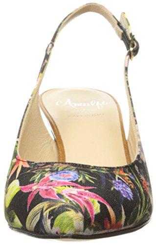 Amalfi By Rangoni Womens Phebe-fab Dress Pump Nero / Multi Blossom / Cognac
