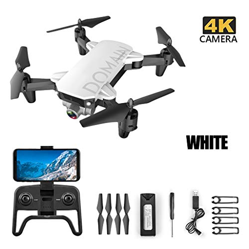 TwoCC Mini Drone,2.4Ghz 4Ch 4K WiFi Altitude Hold Cámara de Ángulo Ajustable RC Quadcopter Drone Plegable