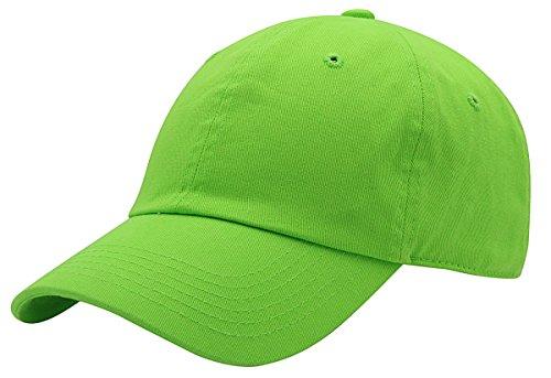(AZTRONA Baseball Cap for Men Women - 100% Cotton Classic Dad Hat, LIM Lime)