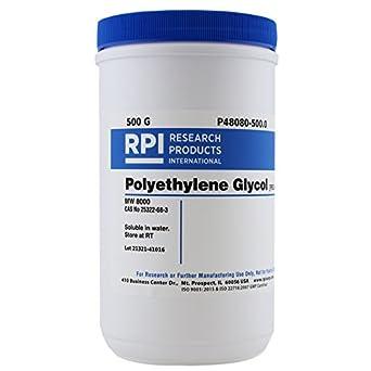peg 8000 polyethylene glycol 8000 500 grams amazon com