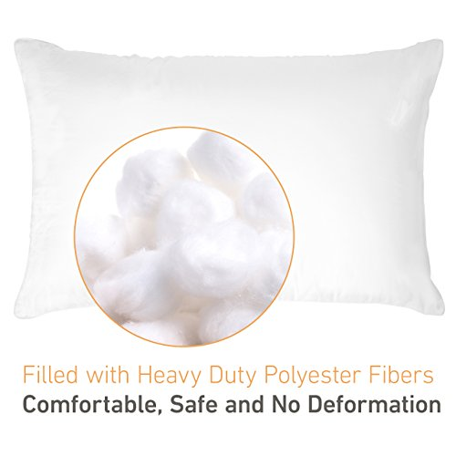 Homitt 2 Piece Super Plush Sleeping Pillow, 100% Cotton Queen Size Filled Pillow for Improving Sleeping at Home or Office