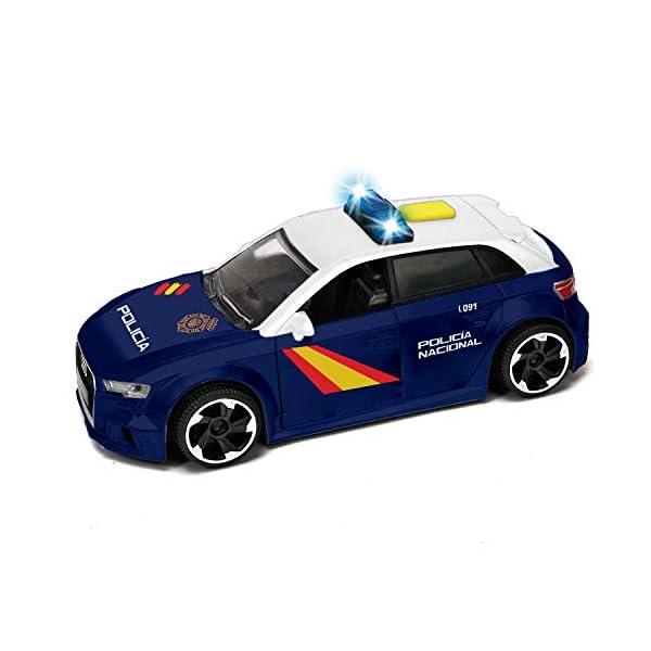 Dickie- Policía Nacional Control Policial Audi RS3 15cm 1153011 Vehículo de Juguete con función 2
