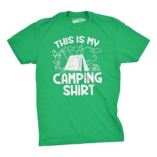 3da2692681d8c Mens This Is My Camping Shirt Funny Summer Tent Hiking T shirt (Black) -