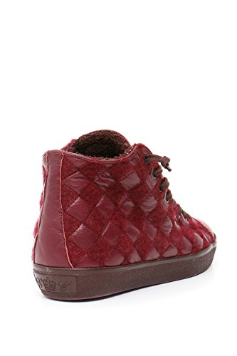 Baskets Femme Mcbi185006o Crown Montantes Bordeaux Cuir Leather 5awPdEqXa