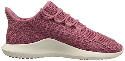 adidas Originals Women's Tubular Shadow CK Running Shoe, Trace Maroon/Chalk Cloud White, 5.5 M US