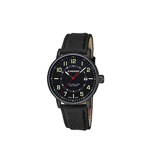 Wenger Reloj Analogico para Unisex de Cuarzo con Correa en Tela 01.0341.111: Amazon.es: Relojes