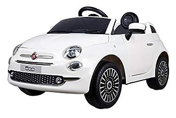 267554b04 Motoor Kids Coche eléctrico para niños Fiat 500 con Mando Radio Control y  batería 6V (Rojo, Blanco y Rosa) - Juguetoon (Blanco): Amazon.es: Juguetes  y ...