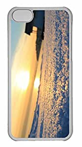 iPhone 5C Case, Personalized Custom Winter Sun 3 for iPhone 5C PC Clear Case