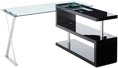 247SHOPATHOME Office-desk, Black