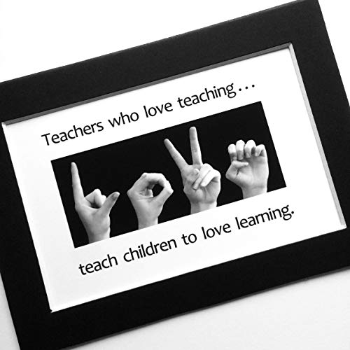 (TEACHER ASL Art Print American Sign Language Black and White ASL Photography Print ART)