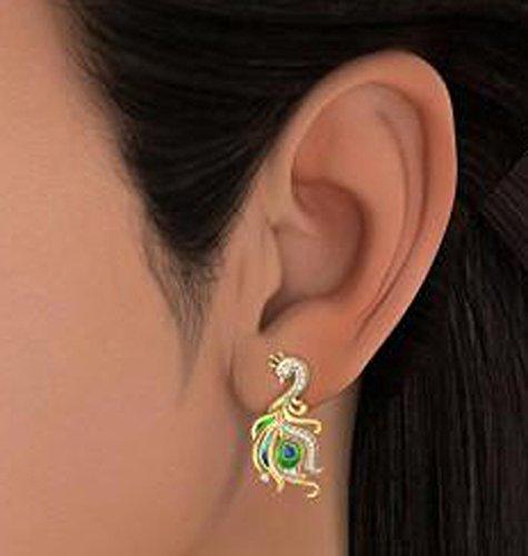 18K Or jaune 0,21CT TW White-diamond (IJ | SI) Boucles d'oreille à tige