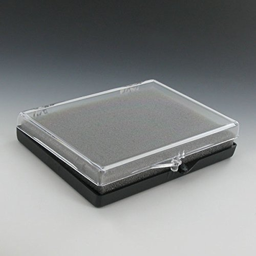 Large Plastic Hinged Medal Box, Size 3-1/2 x 4-5/8 x 1/2 Inch - Pack of 10