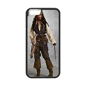 iphone6 plus 5.5 inch Case (TPU), captain jack sparrow Cell phone case Black for iphone6 plus 5.5 inch - YYTT7882940