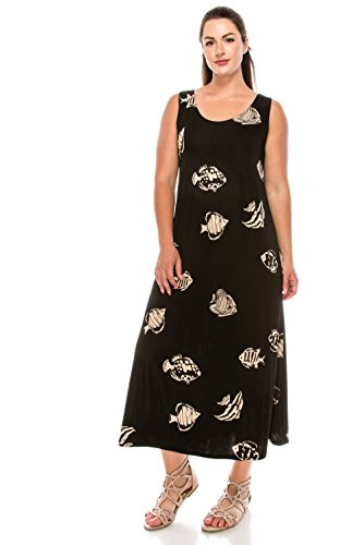 Women's Dress Taupe W036 Print Jostar Stretchy Long Tank 8qOgOF