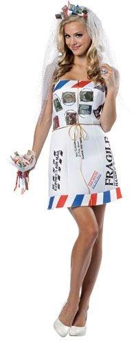 Rasta Imposta Mail Order Bride, White, Fits Sizes (Mail Woman Costumes)