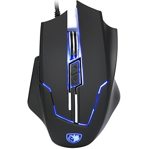 SADES Q7 Gaming Mouse 6 Buttons Professional LED Optical USB